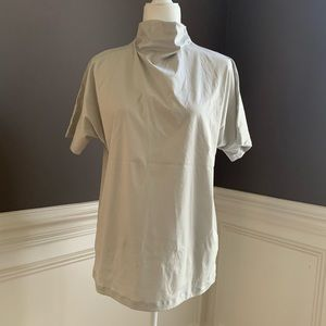 COS Cotton Drape Neck Box Top